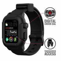 Custodia impermeabile Per Apple Watch band 4 iwatch fasce per 42 millimetri Cinturino In Silicone 44 millimetri 40 millimetri pulseira Braccialetto di smart watch accessori anello