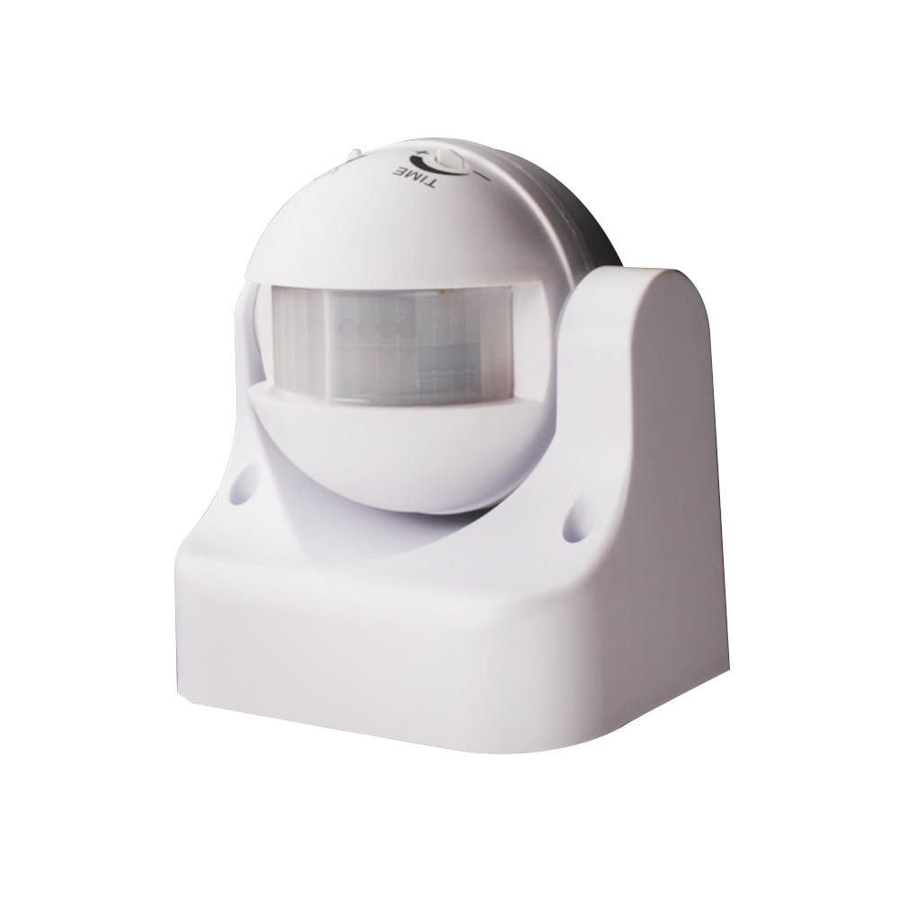 Outdoor PIR Motion Movement Sensor Detector Switch 180 Degree Auto 220V/AC-240V/AC Security Lighting Lamp Switch White / Black