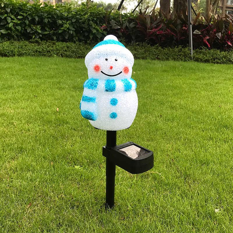 Солнечный фестиваль ландшафтное освещение кролик/Санта Клаус/Снеговик светодиодный лампа сад освещение украшения наружные рождественские огни