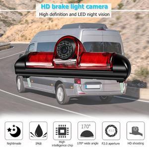 Image 4 - VODOOL 3rd Auto Bremse Licht Rückansicht Kamera IP68 Wasserdichte LED Nachtsicht Kamera Für Citroen Jumper Fiat Ducato Peugeot boxer