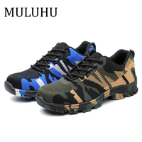 MULUHU Casual Shoes For Men Camouflage Labor Insurance Shoe Non slip Wear resisting Work Shoe Anti piercing High Quality Trend