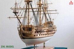 Zhl modelo san felipe 1690 modelo navio madeira