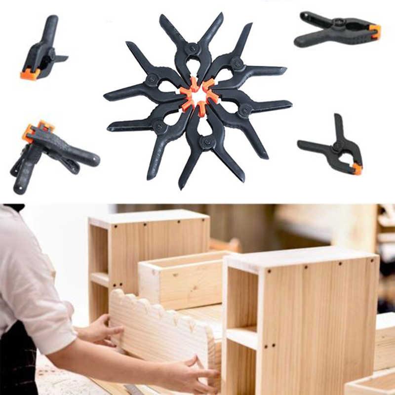 6 pièces/ensemble outils à main pince à ressort en plastique dur travail du bois modèle de bricolage faisant la poignée de liaison 2 ''pinces à bascule 6 pinces de taille fournitures