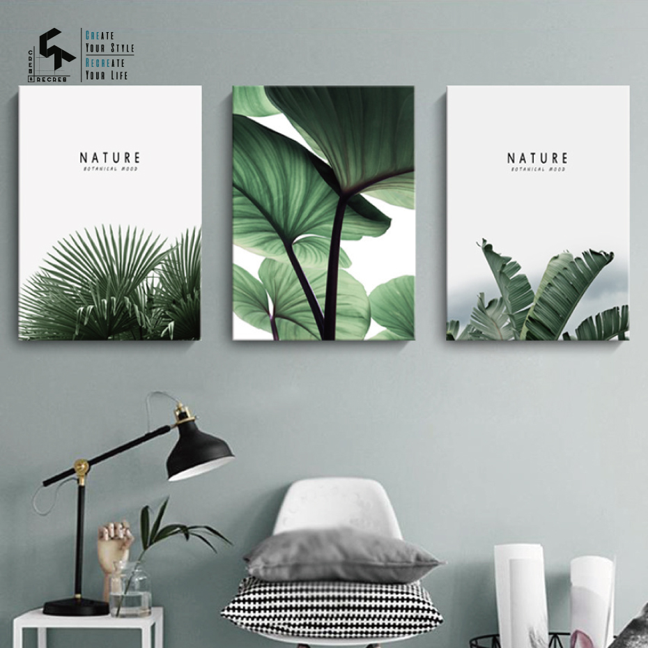 CREATE RECREATE Nordic Poster Leaf Wall Art Canvas Oil Painting Plant Posters And Prints Home Decoration Pictures CR1810110021 in Painting Calligraphy from Home Garden