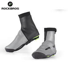 ROCKBROS Waterproof Cycling Shoe Covers Winter Reflective Thermal Elastic Durable Windproof Bike Rain Overshoes Sneaker