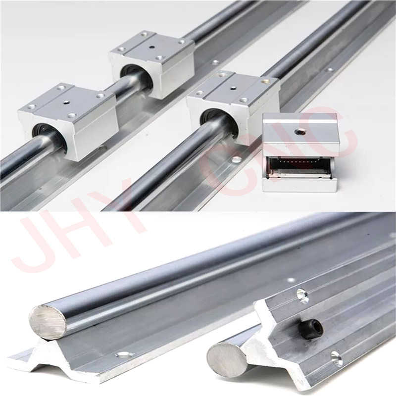 6 SBR20-300/600/950mm 20 MM FULLY SUPPORTED LINEAR RAIL SHAFT ROD with 12 SBR20UU6 SBR20-300/600/950mm 20 MM FULLY SUPPORTED LINEAR RAIL SHAFT ROD with 12 SBR20UU