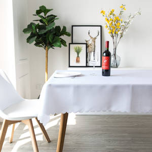 Table-Cloth Rectangle Dinner-Room Plain Custom-Size White 100%Polyester Solid YRYIE Red