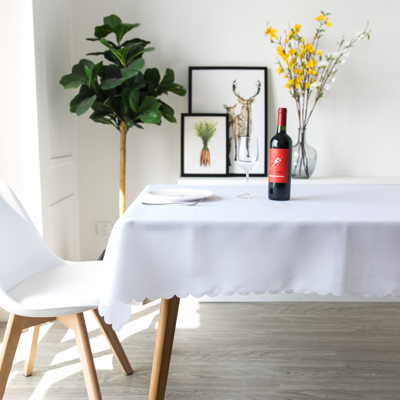 YRYIE Free Shipping Solid Color White 100 Polyester Tablecloth Dinner Room Table Cloth Rectangle Plain Red