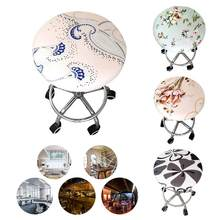 Bar Stool Covers Round Bar Stool Covers Swivel Chair Seat Cover Cushions Sleeve Protector(China)