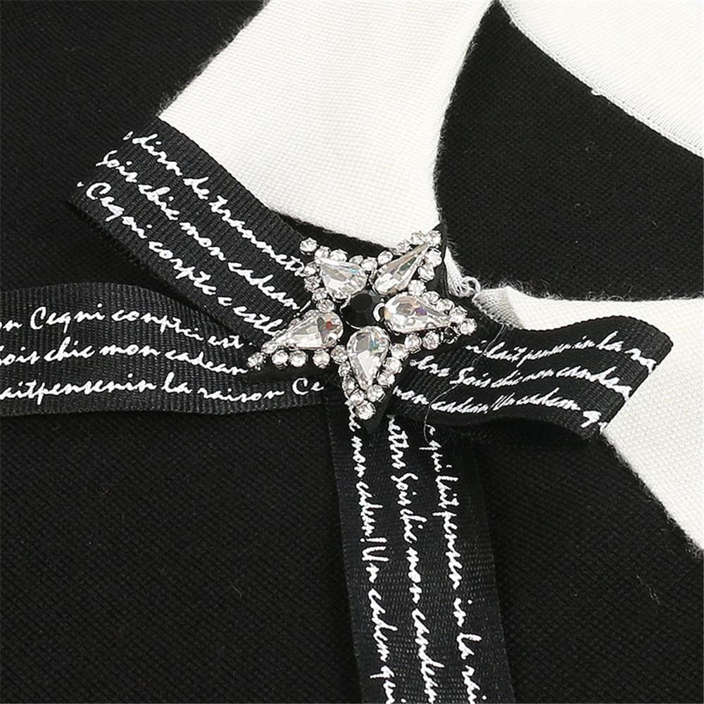 Robes Jumper Femmes Élégant Moulante Vintage Kint Qualité Courte Mince Pulls Robe Black Arc Supérieure Mini Pour Star OwYBxH