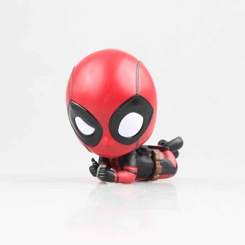 Lendas maravilha Novo 2019 Q versão PVC 8 centímetros Deadpool-1 Grenade Modelo Filme Spiderman Avengers Infinito Boneca Figuras de ação Figma