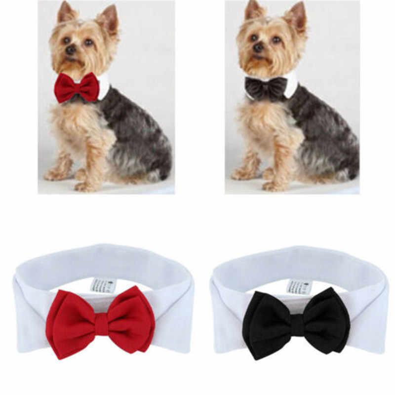 Moda Ajustável Pet Arcos Gatinho Filhote de cachorro Cães Gatos Tie-Collar Gravata Bowknot Roupas Para Animais de Estimação Do Gato Do Cão Nova Alça estilo Novo 2019