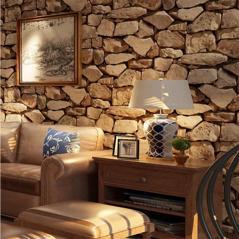 10 м * 53 см ретро 3D эффект кирпичная стена бумага рулон для стены камень гостиная стены бумага кафе бар Ресторан Декор стены стикеры