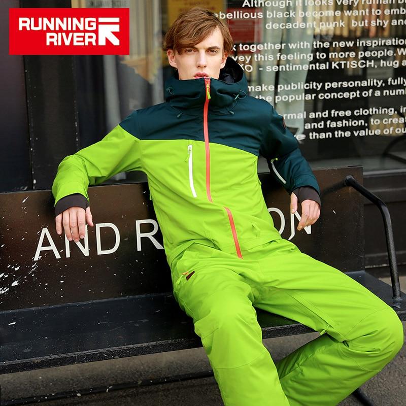 RUNNING RIVER Brand Waterproof Jacket For Men Snowboard Suit Women Snowboard Jacket Male Snowboarding Set Clothing #B8095