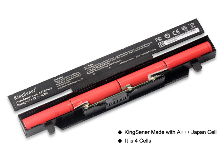 KingSener A41N1424 batería del ordenador portátil para ASUS ROG ZX50 ZX50J ZX50JX ZX50V ZX50VW GL552 GL552J GL552JX GL552V 14,4 V 3350 mAh - 2