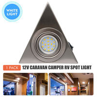 12V Cool White lamp Spot Light LED Kitchen Under Cabinet Cupboard Triangle Light Kit Caravan Camper RV|RV Parts & Accessories|   -