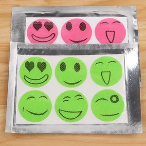 60 штук пакет наклейки от комаров DIY наклейки от комаров патчи мультфильм улыбающееся лицо привод Отпугиватель