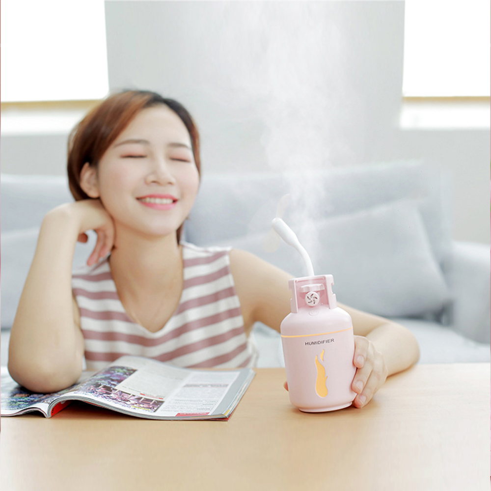 300ML Ultrasonic Air Humidifier Aroma Essential Oil Diffuser USB Fogger Mist Maker 4 in 1 for Home Office