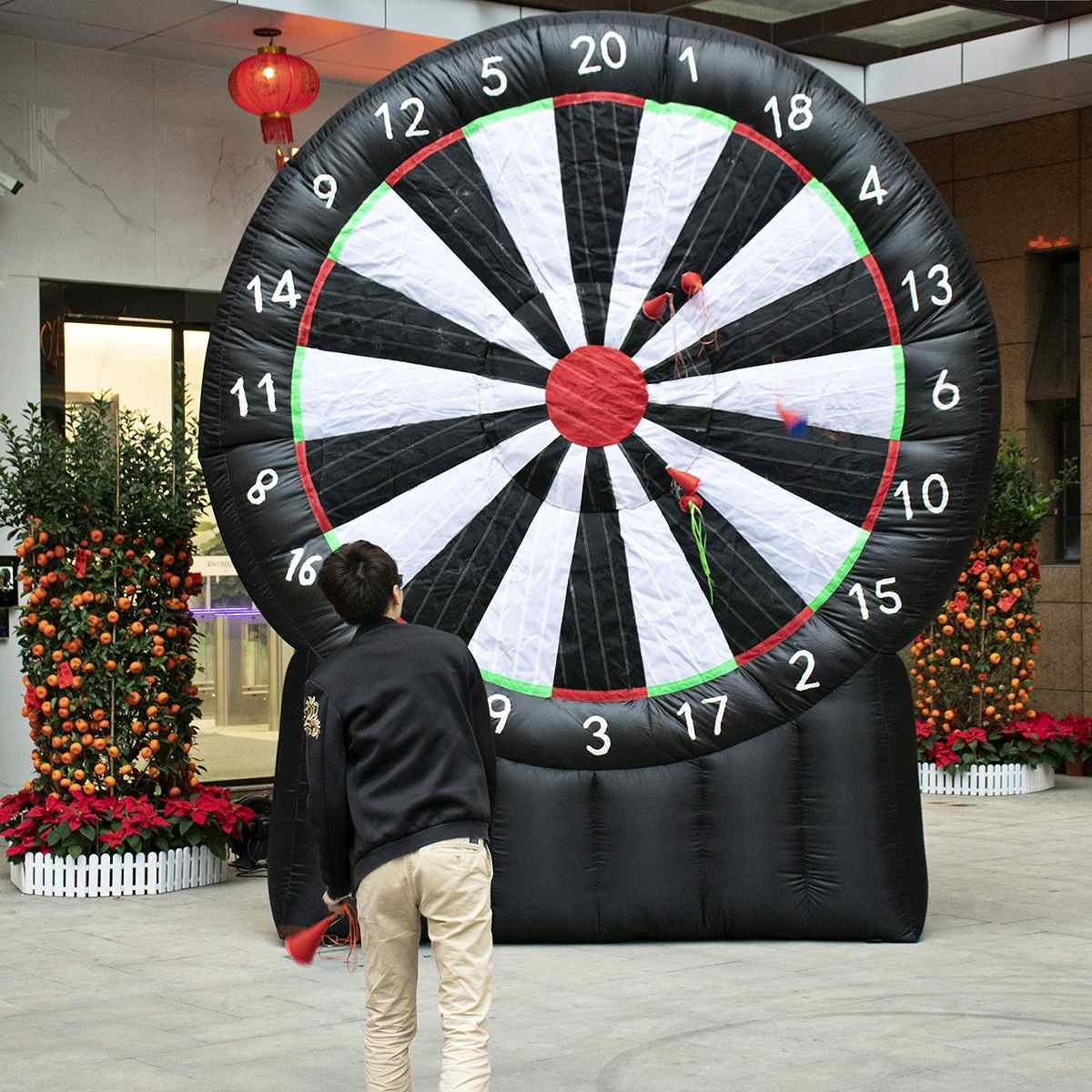 4 Meter Giant Inflatable Dart Board With Air Blower 220V