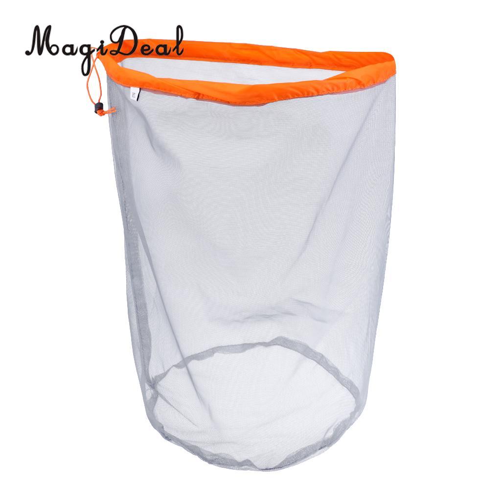 MagiDeal Multipurpose Travel Camping Drawstring Stuff Sack Clothes Mesh Bag XL For Camping Hiking Kayaking Canoeing Boating