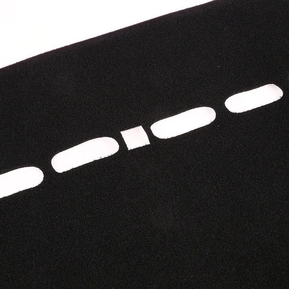 Vehemo войлочная ткань силиконовый коврик для приборной панели, Солнцезащитная Накладка для машины, Накладка для сиденья левого водителя, черные запчасти для двигателей, коврик для приборной панели