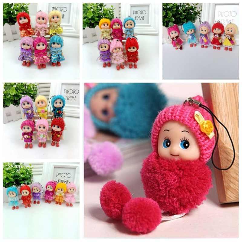 1 sztuk śliczne czapka dla dzieci zabawki pluszowe hurtownia małe Confused Doll Clown lalki wisiorek Mobile łańcuszek do telefonu promocja mały prezenty 8 CM