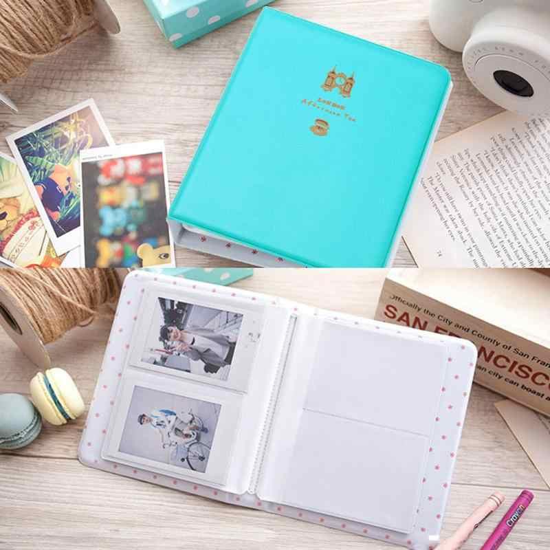 Nowe 64 kieszenie składany fotoalbum pojemnik na zdjęcia do FujiFilm Instax Card Mini 8 Case Album fotograficzny Instax Mini Album