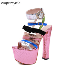bohemian Sandals summer shoes sexy women high heels sandals sweetly blush fashion buckle thick women platform sandals YMA755 asumer black apricot rose red fashion summer ladies shoes buckle thick platform prom shoes women high heels sandals
