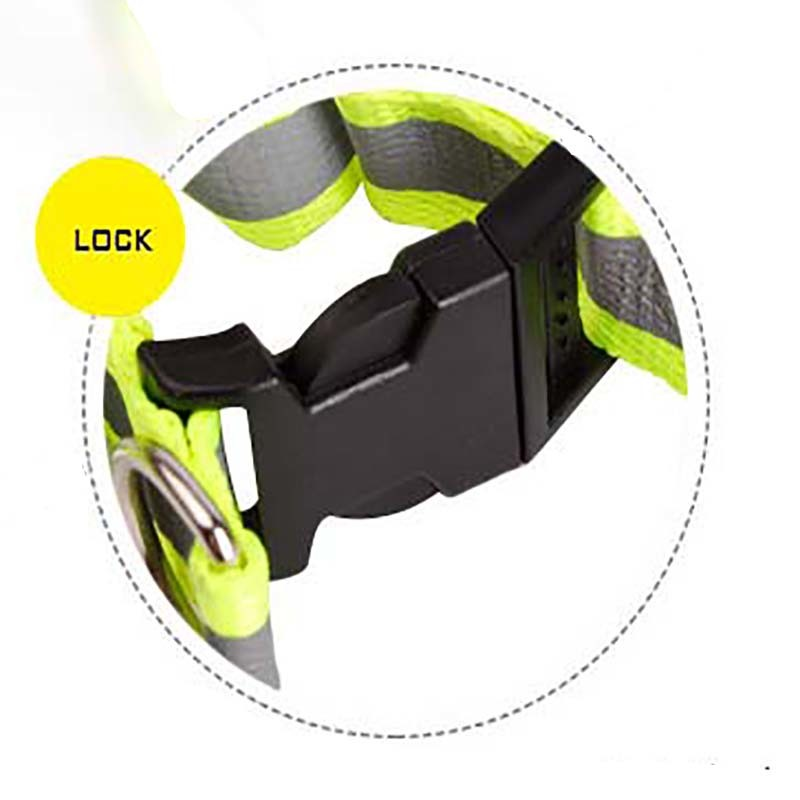 KIMHOME PET Led Dog Collar Nylon Retractable Dog Leash Reflective Dog Harness Night Safety Flash Light Christmas Dog Accessories in Harnesses from Home Garden