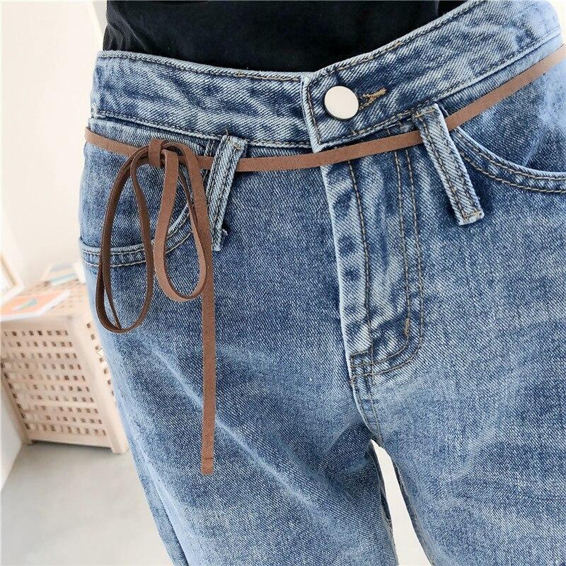 Agua De Original Tubo Recto Parche Nueve Blue Jeans Debe Coreano Gato Mujer Puntos Agujero Solo Versión wYqFxgTnqz