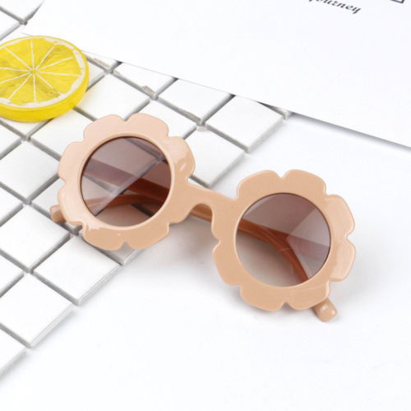 Flower Shaped Sunglasses Shades UV400 for Girls Children Baby Holiday Party