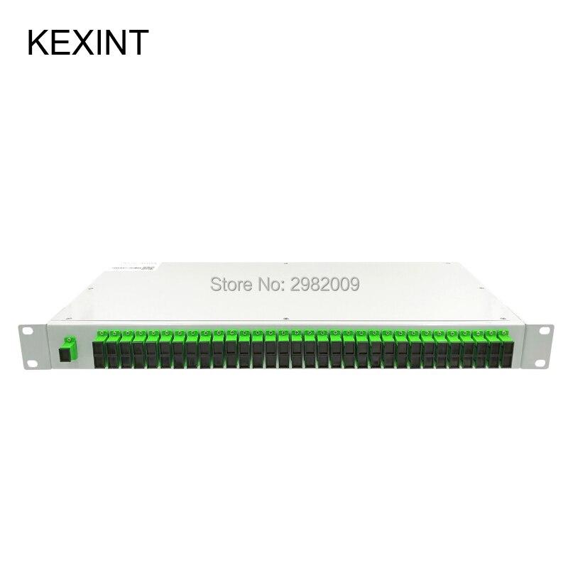 Séparateur optique de PLC de Fiber de support de KEXINT 1U 1x64 mini type de module séparateur de câble de colo SC/APC