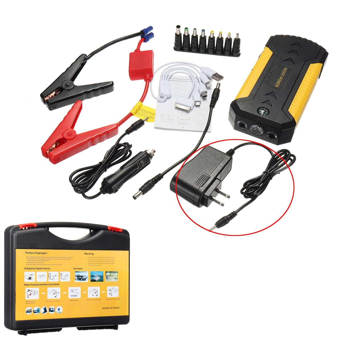 4USB 12 V 88000 mAh Auto Jump Starter Urgence Chargeur Booster Puissance Banque Batterie Jump Starter Tool Set De Voiture Électronique pièces