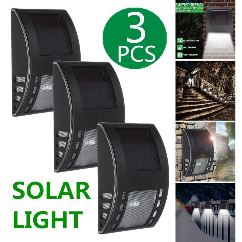 1/2/3 Piece Solar Power LED Wall Light Dusk-to-Dawn Security Lamp Outdoor Street Light Area Lighting For Front Door Patio Garden