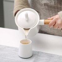 Ev ve Bahçe'ten Kahve Demlikleri'de Türk Seramik Alev Mocha Süt Isıtma Pot Su Isıtıcısı Kaynatın Yapmak Yemek Kahve makinesi Kahvaltı MOKA Uzun Bambu Saplı Barista Araçları