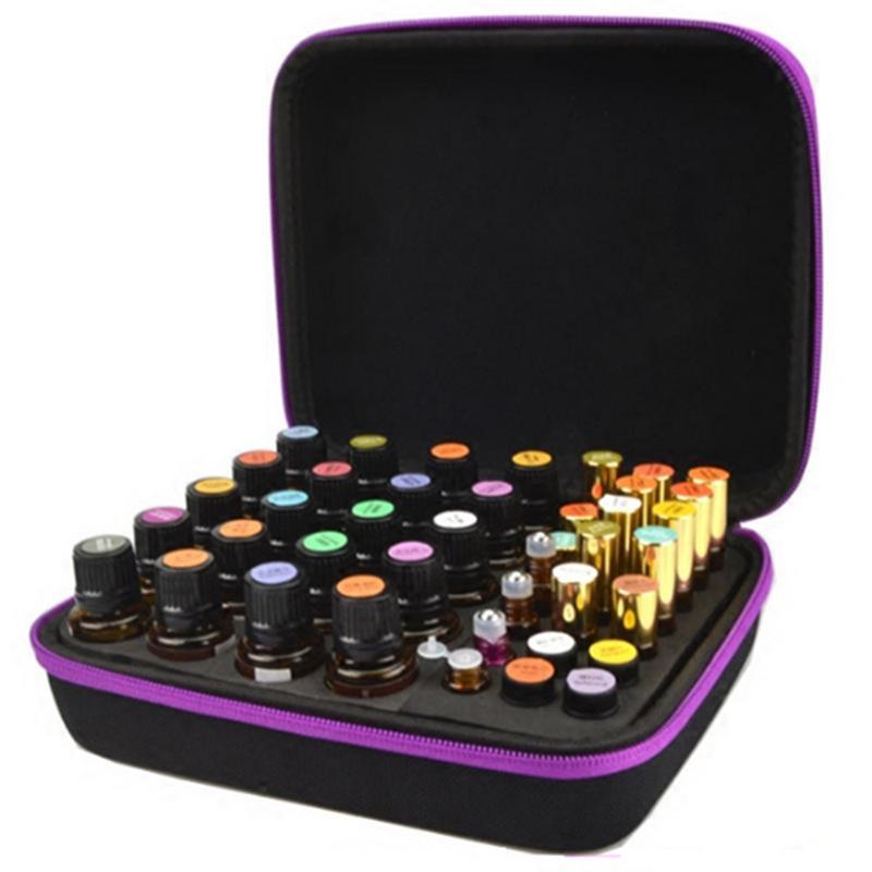 EVA Essential Oil Case 63 Bottles 1-3ML Perfume Oil Essential Oil Box Travel Portable Ca ...