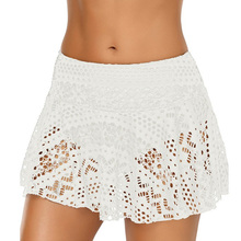 Womens Sexy Skirts Lace Short Summer Casual Beach Swimming Mini Hollow Out 2 Layer New Fashion Skirt
