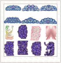 Flower Lace Layers Edge Metal Cutting Dies Stencil For Scrapbooking Embossing DIY Paper Card album Handcrafts Templates 2019 flower retro fans various shape metal cutting dies stencil for scrapbooking embossing diy paper card handcrafts decor templates
