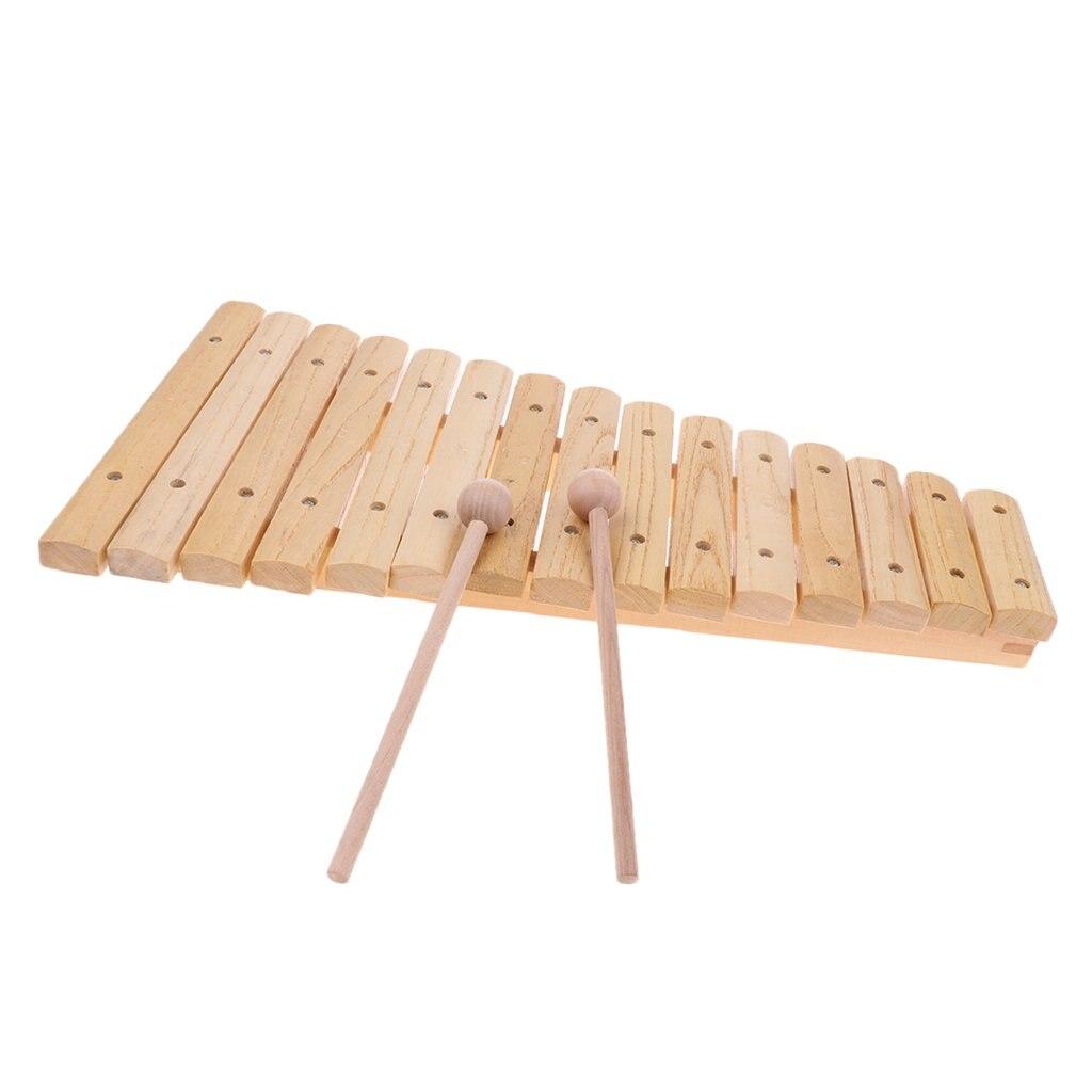 15 Notes en bois Xylophone Instrument de musique jouet d'apprentissage précoce jouets éducatifs cadeau d'anniversaire pour enfants enfants