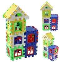 24 pces parentalidade desenvolvimento casa blocos de construção construção educacional aprendizagem blocos de construção brinquedos para crianças presente dos miúdos