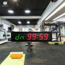 Большой размер Многофункциональный светодиодный спортивный таймер обратного отсчета светодиодный дисплей часы обратного отсчета Табата тренировочный таймер Honghao