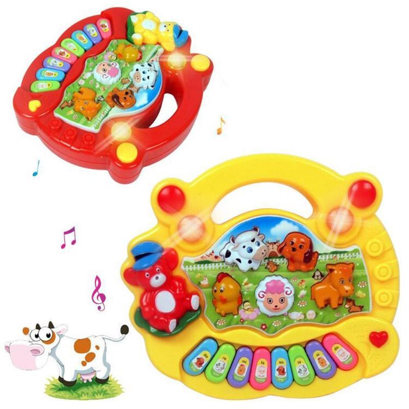 Newborn Baby Kids Musical Toys Montessori Developmental Animal Farm Piano Sound Educational Toys For Children Christmas Gifts