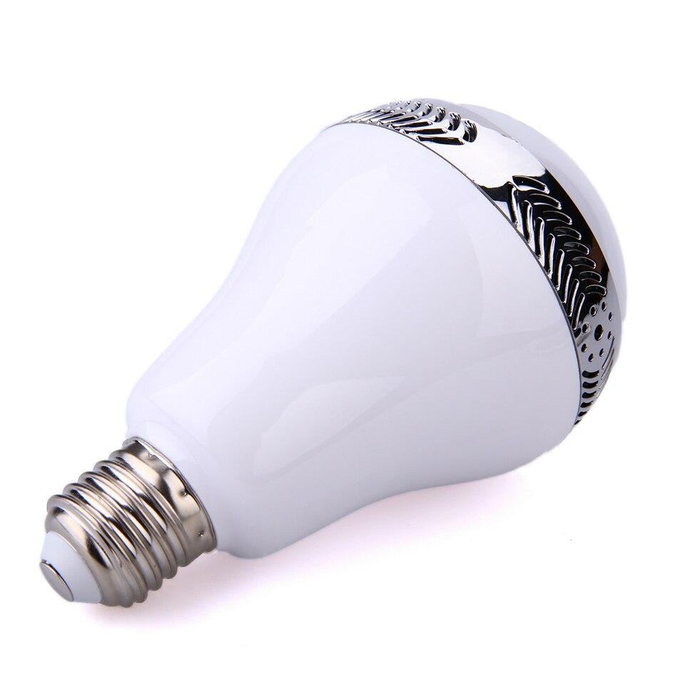 Ampoule bluetooth avec haut-parleur lumières musique jouer dimmable intelligent E27 app contrôle led lampe à ampoule led intelligente préfet pour la fête - 4