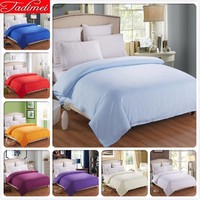 1 piece Duvet Cover Plain Pure Color Soft Cotton Bedding Bag Blue Adult Kids Girl Quilt Comforter Blanket Case 150*200 180*200cm