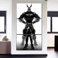 Modern Home Decorative Modular Picture 3 Panel Anime My Hero Academia Painting On Canvas Printing Posters And Decor The Wall