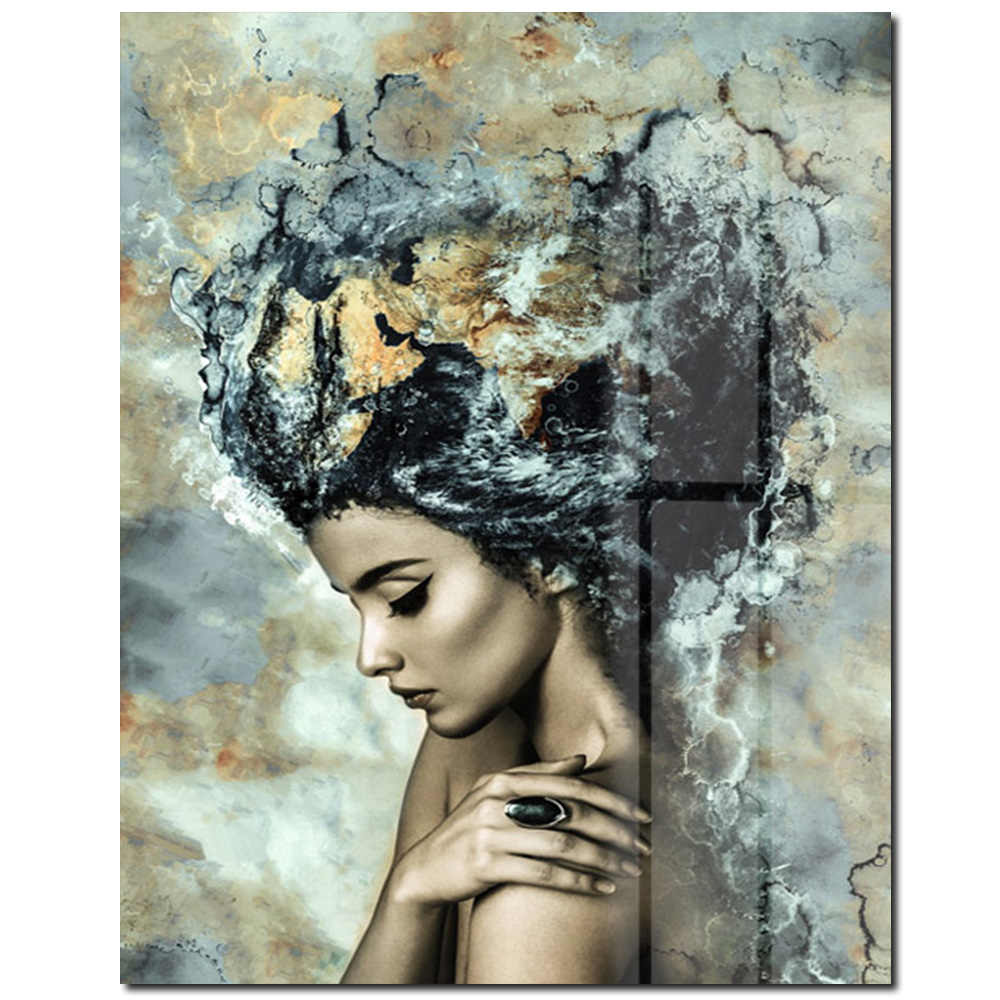 Modern Girls Wall Art Pictures Paintings for Living Room Canvas Painting Pictures Modern Artwork Home Decor for Bedroom