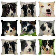 HGLEGYW животных шаблон собака наволочки пледы наволочки хлопок белье печатных наволочки для офиса домашний текстиль