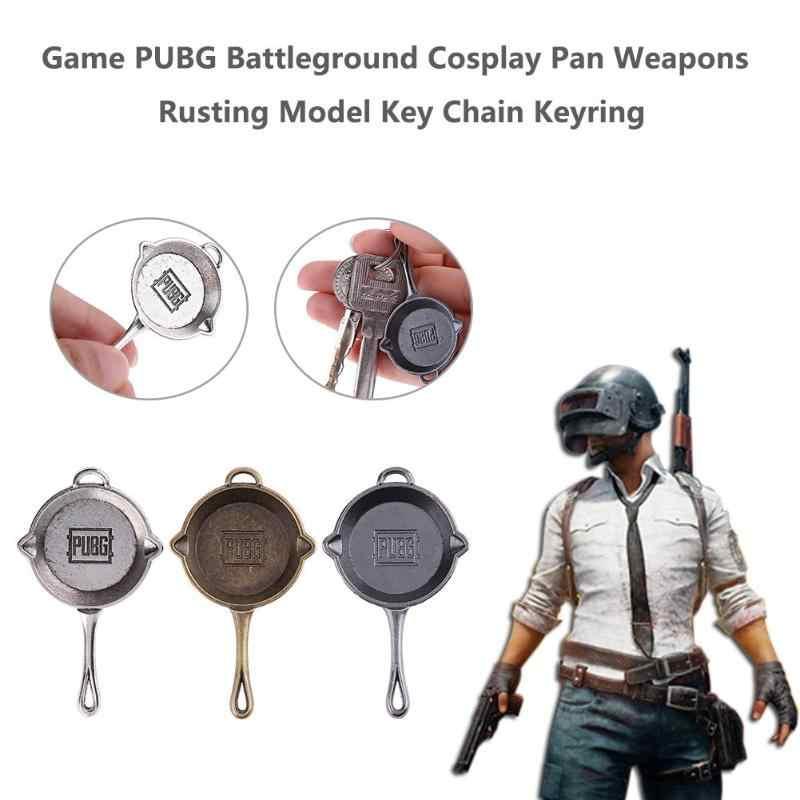 Trò chơi PUBG Vũ Khí Gỉ Keychain Battleground Cosplay Pan Mô Hình Keyring Bắn Tỉa Mô Hình Súng Trường Không Rõ Máy Nghe Nhạc của Khóa Chính Đồ Trang Sức