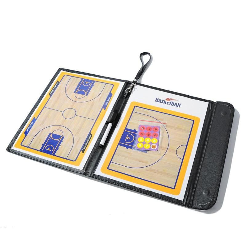 Professional Tactical Board Basketball Coaching Double-sided Coaches Clipboard Dry Erase Tactical Board Basketball Accessories