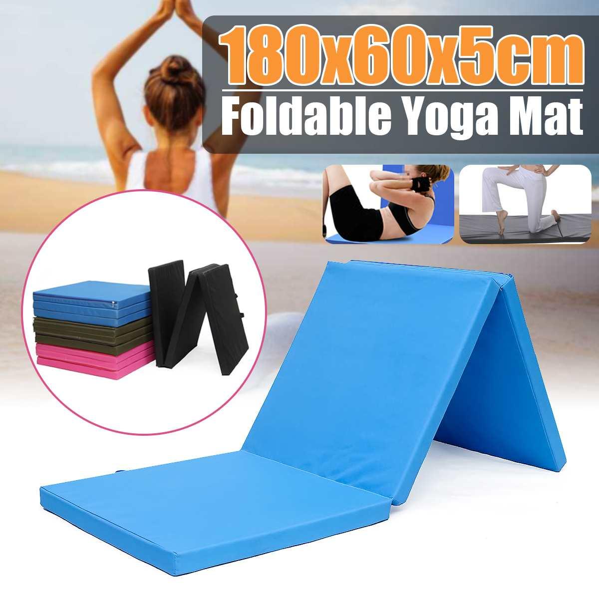 180*60*5 cm tapis de gymnastique pliant tapis de Yoga de plancher de gymnastique exercice Fitness Pilates Gym tapis d'entraînement de gymnastique tapis de Yoga